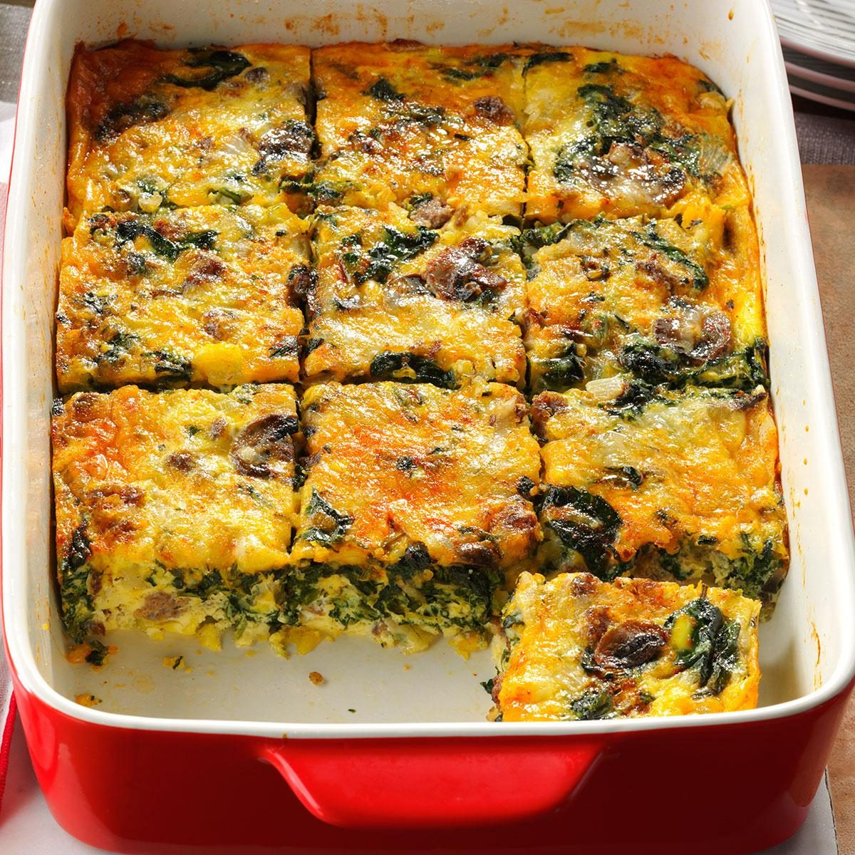 Recipes For Egg Bake Dishes: Eggs Florentine Casserole Recipe