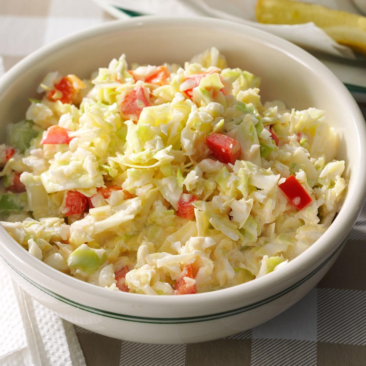 Mom's Chopped Coleslaw Recipe