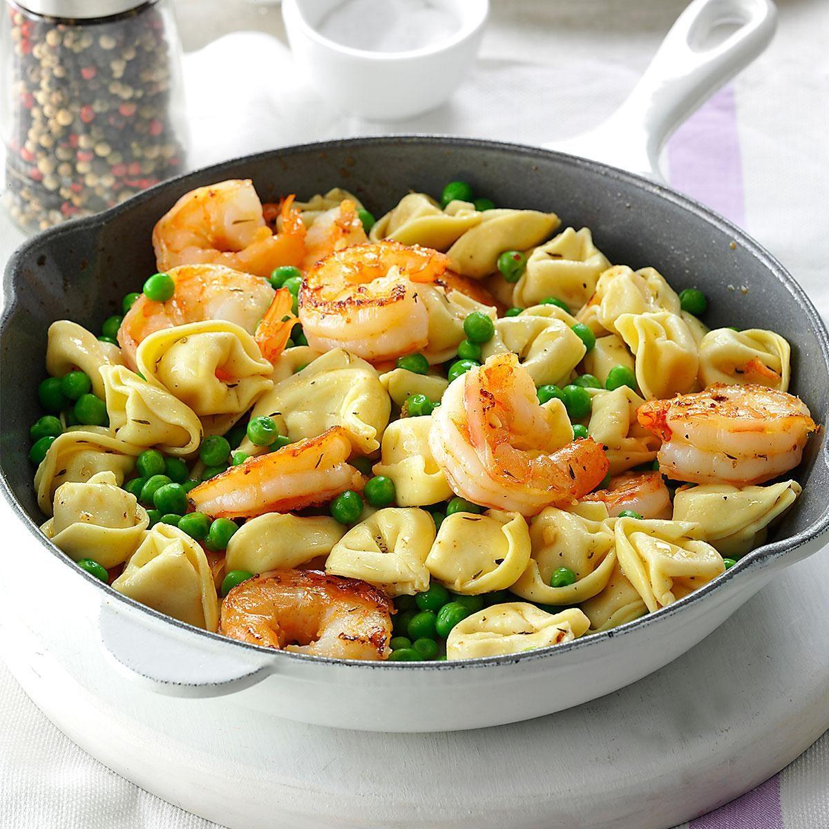 Shrimp tortellini pasta toss recipe taste of home for How to make healthy soup for dinner