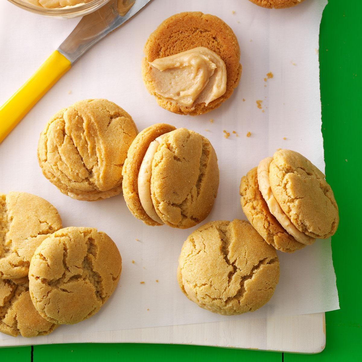 Mini Peanut Butter Sandwich Cookies Recipe | Taste of Home