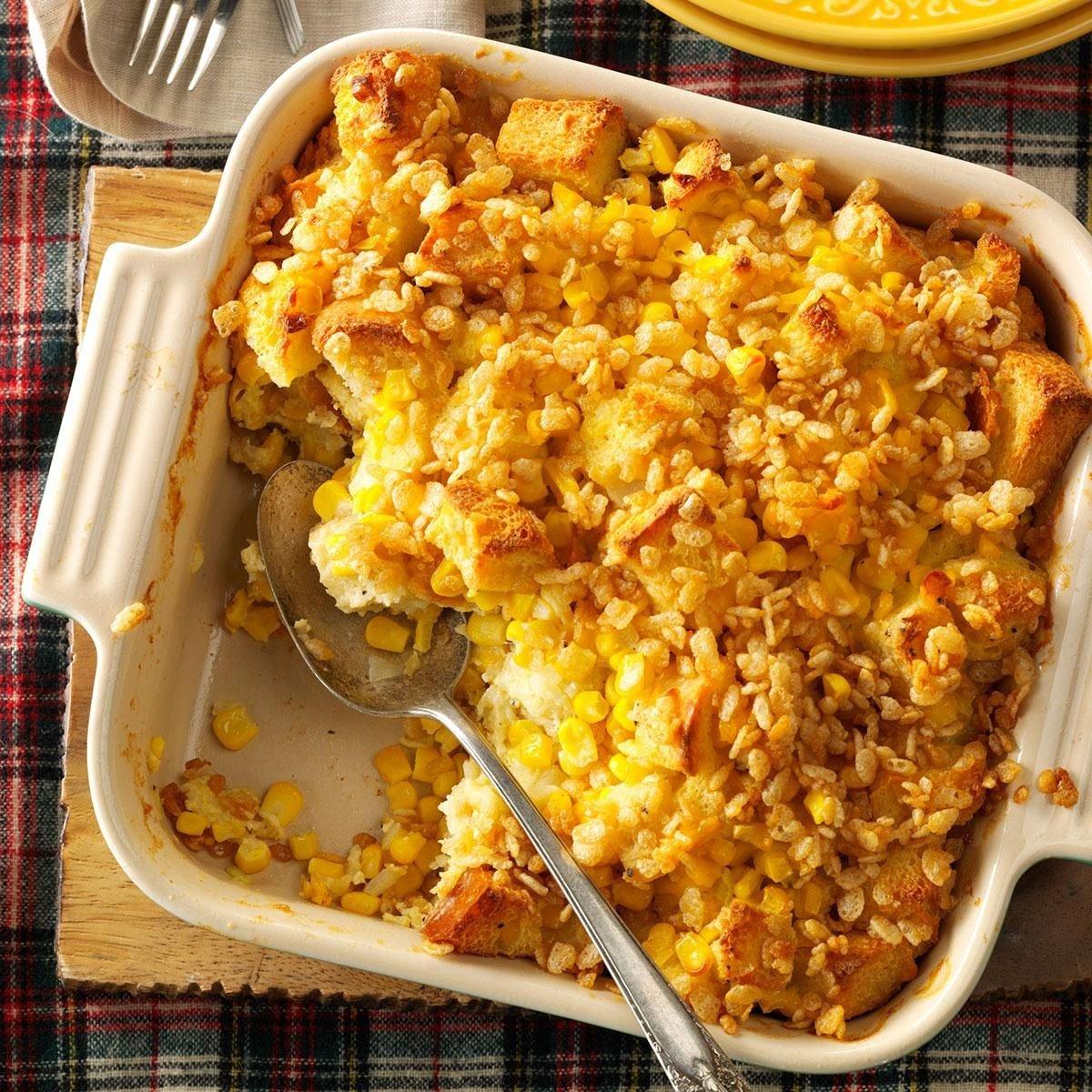 Scalloped Sweet Corn Casserole Recipe | Taste of Home