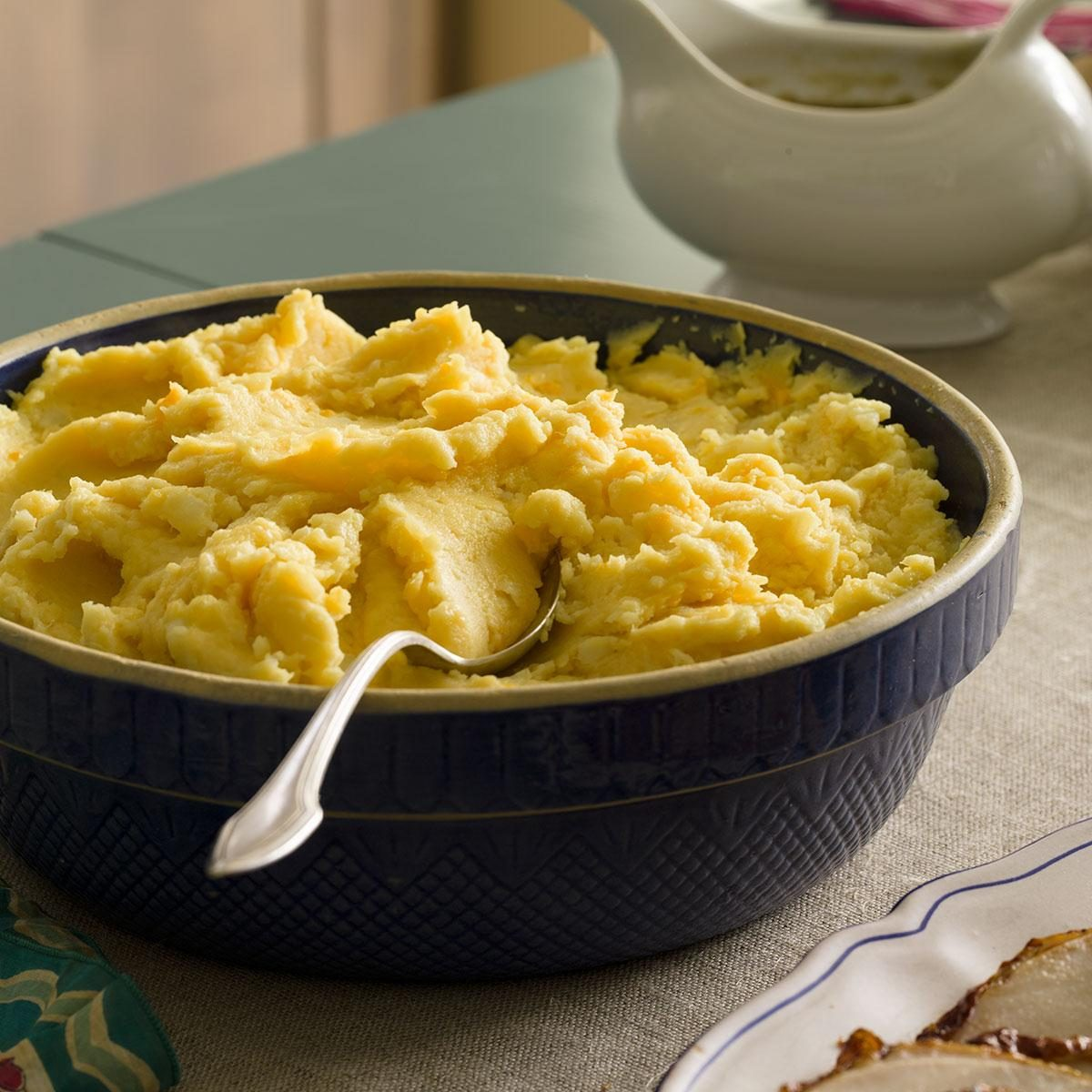Mashed Potatoes with Cheddar Recipe | Taste of Home