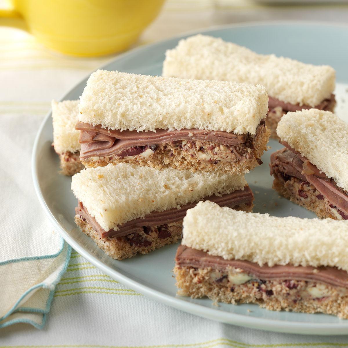 Roast Beef Finger Sandwiches Recipe Taste Of Home
