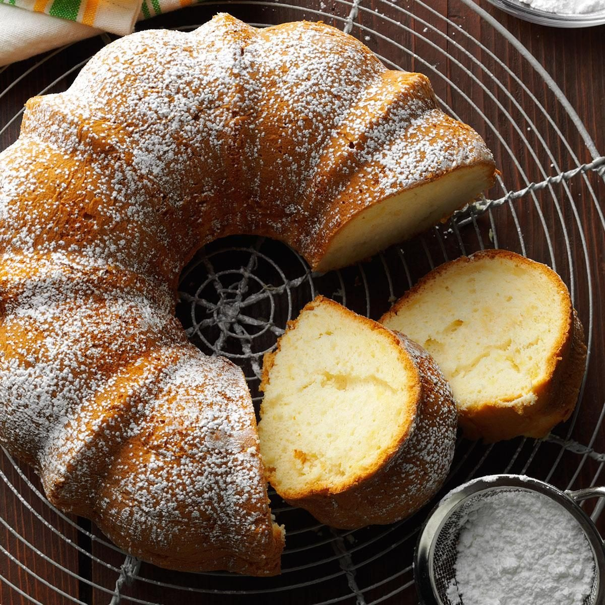 Italian Apple And Ricotta Cake In A Bundt Pan