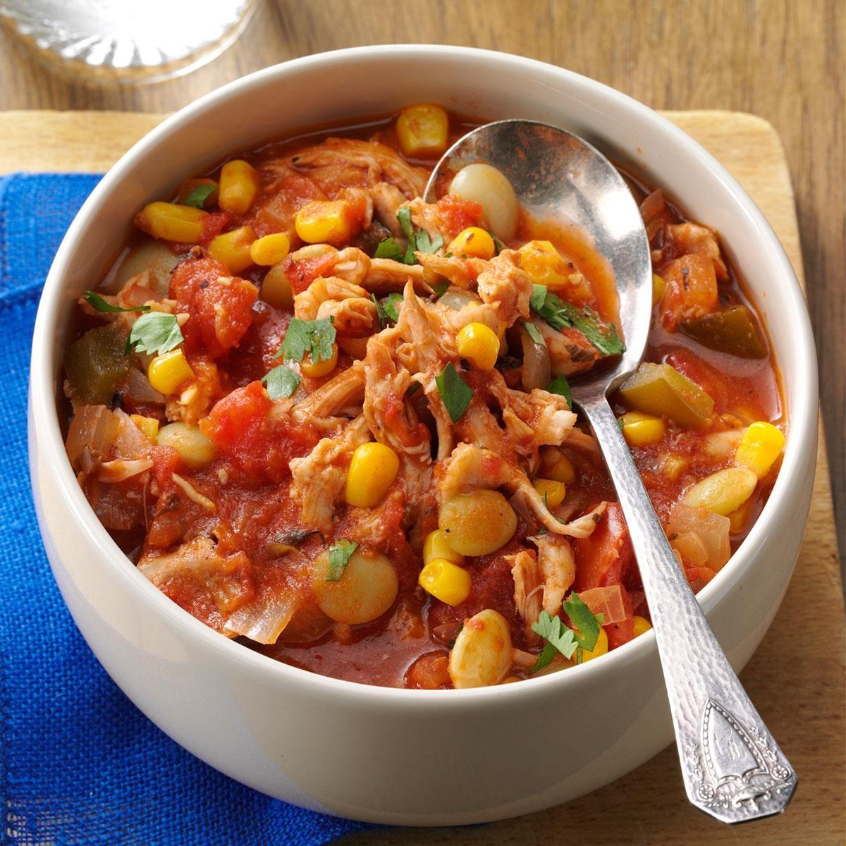 Southwestern Chicken & Lima Bean Stew Recipe   Taste of Home