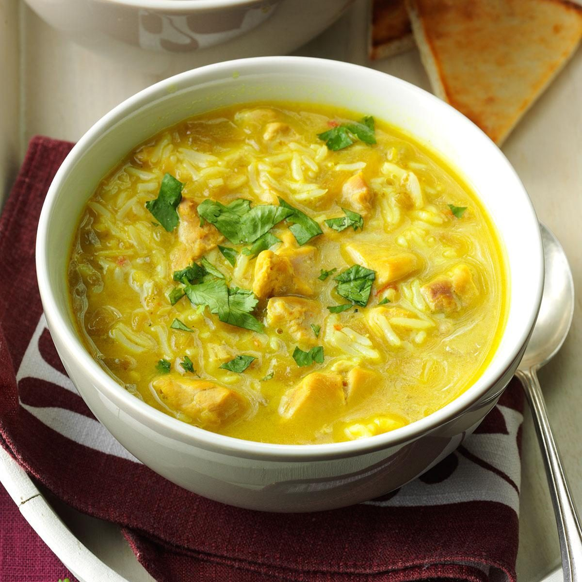 Cheese Fondue Coconut Lime Chicken Curry Soup Recipe Taste Of Home