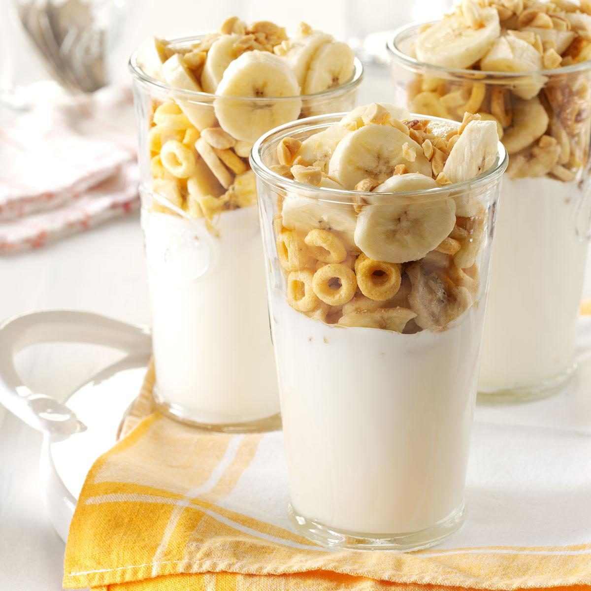 Peanut Butter-Banana Yogurt Parfaits Recipe