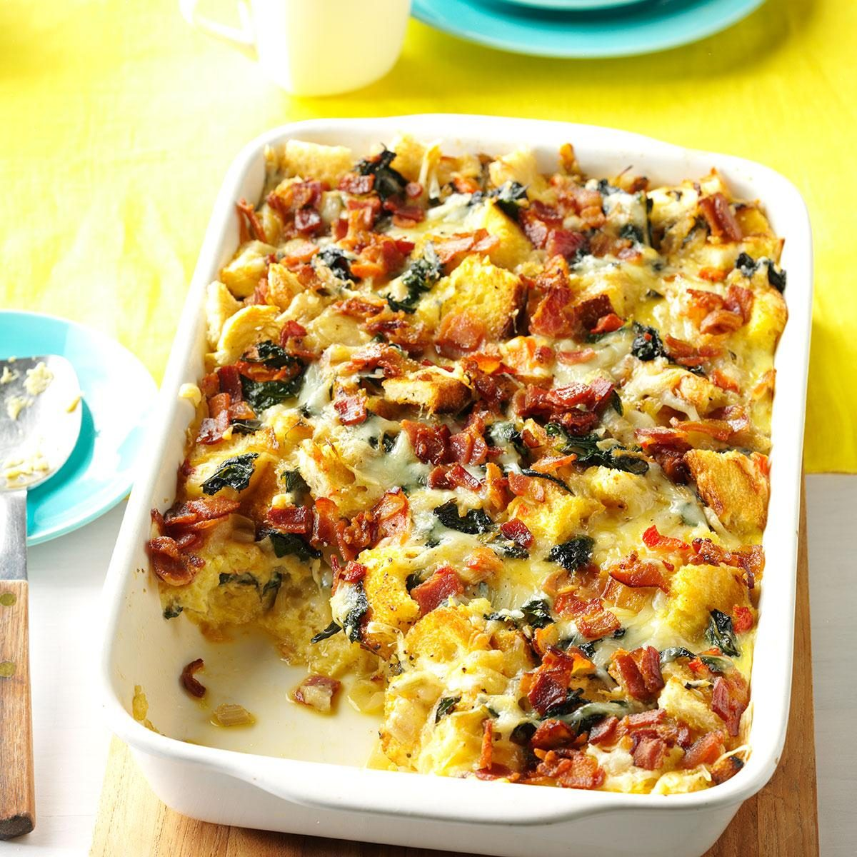 Strata Recipes smoked gouda & swiss chard strata recipe | taste of home