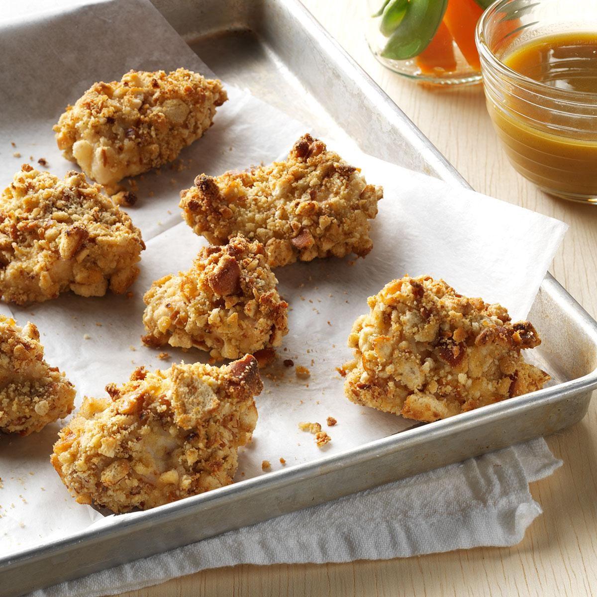 Nuggets Healthy Eats: Pretzel-Coated Chicken Nuggets Recipe