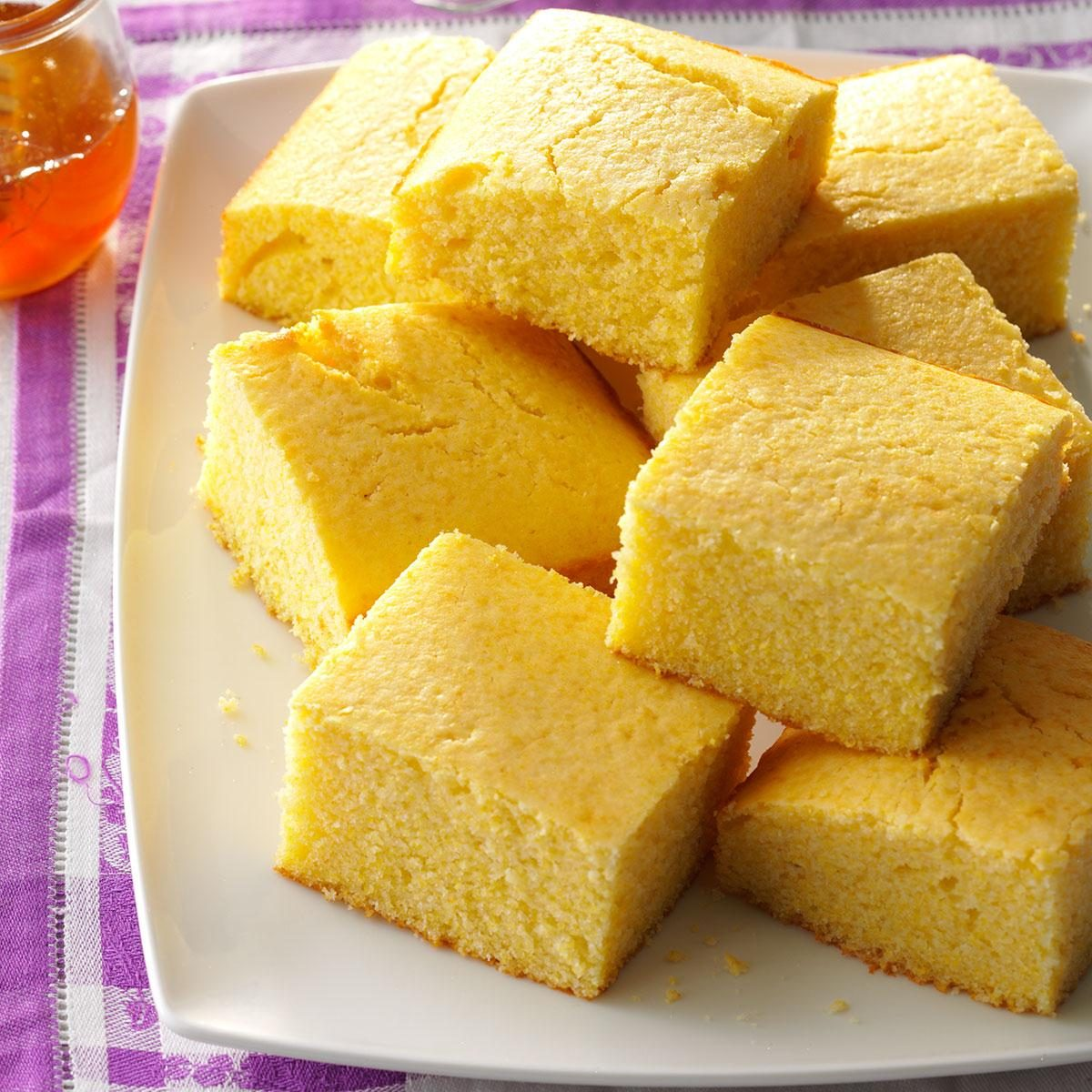 Moist Amp Sweet Corn Bread Recipe Taste Of Home