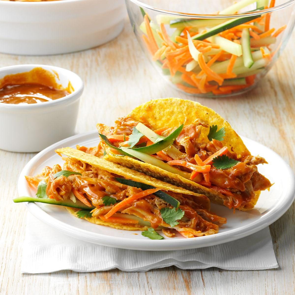 Thai Chicken Tacos Recipe | Taste of Home