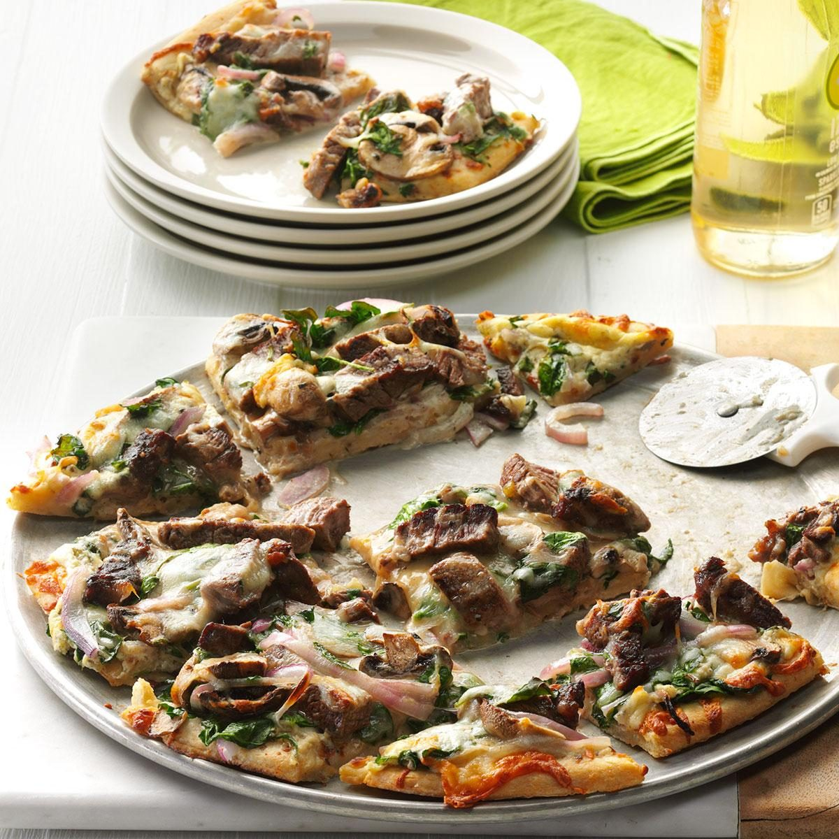32 iron rich foods that help you power through your day taste of garlic herb steak pizza forumfinder Choice Image