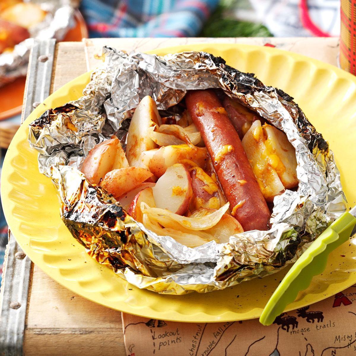 BBQ Hot Dog & Potato Packs Recipe