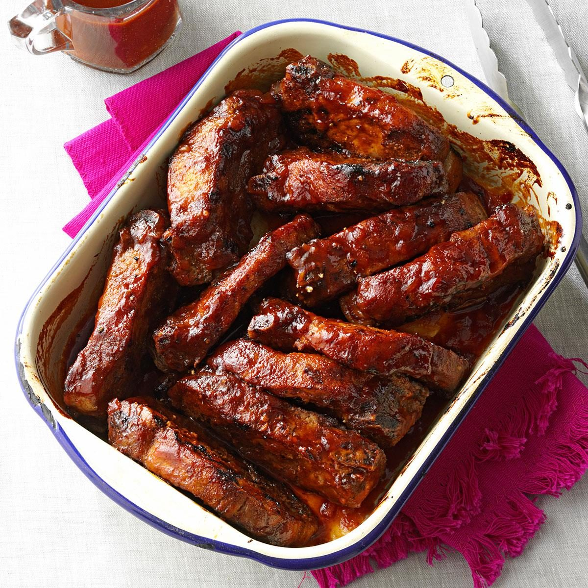 Kansas city style ribs recipe taste of home for Side dishes for bbq ribs and chicken