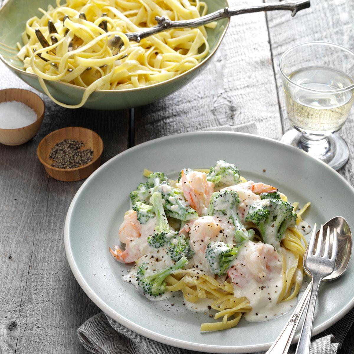 Broccoli Shrimp Alfredo Recipe Taste Of Home