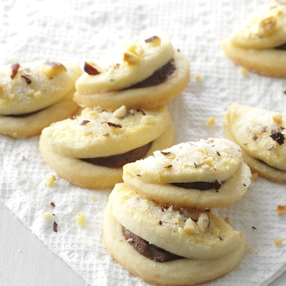Folded Hazelnut Cookies Recipe | Taste of Home