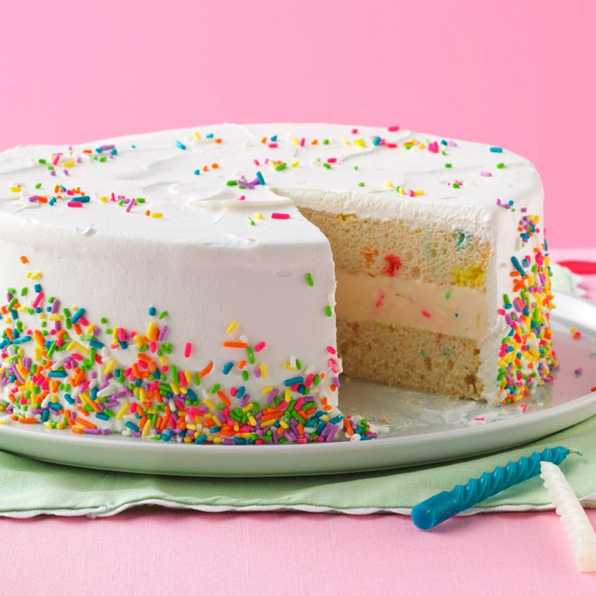 Small Images Of Birthday Cake : Ice Cream Birthday Cake Recipe Taste of Home