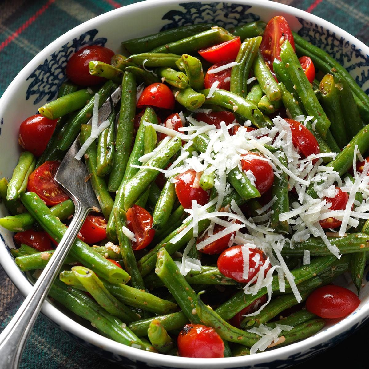 Roasted Italian Green Beans & Tomatoes Recipe