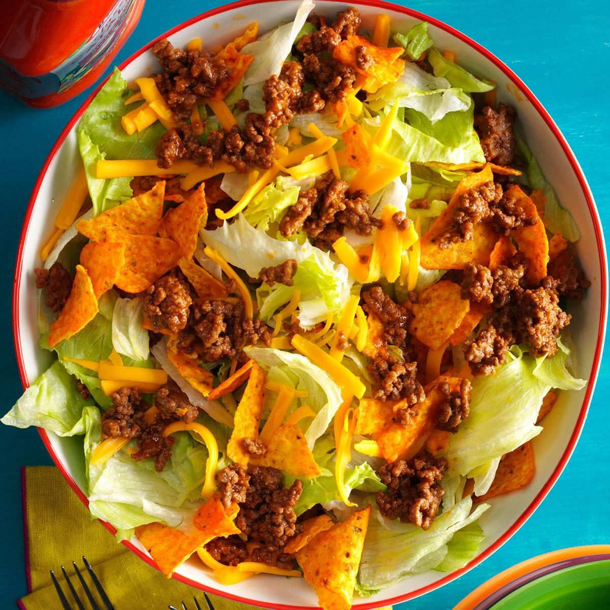 8 More Delicious And Easy Ground Beef Dinner Ideas: Easy Ground Beef Taco Salad Recipe