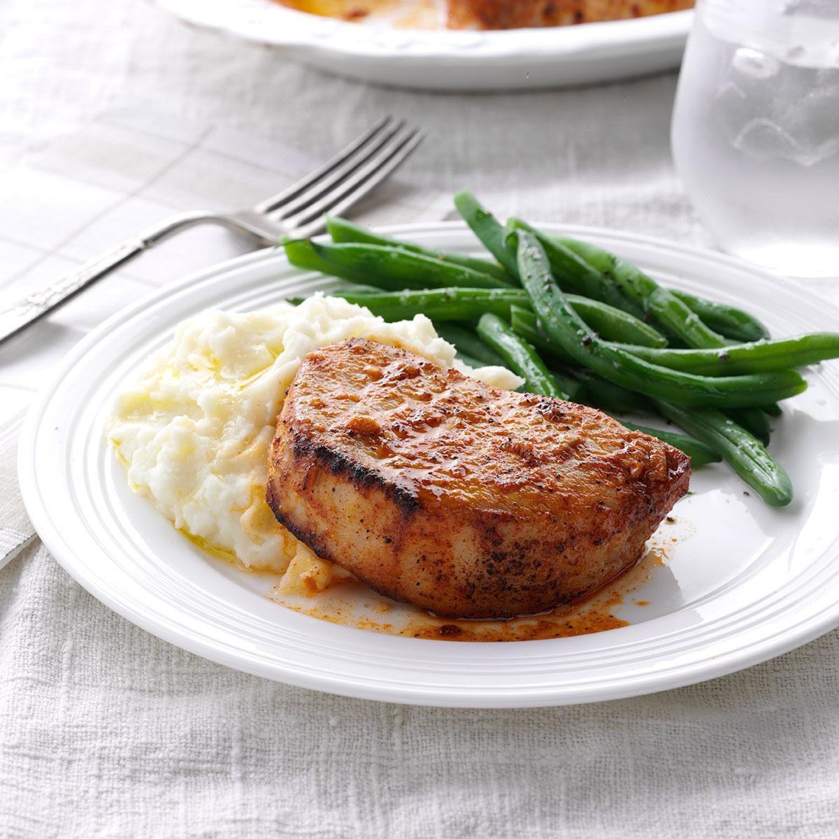 Lemon-Garlic Pork Chops Recipe