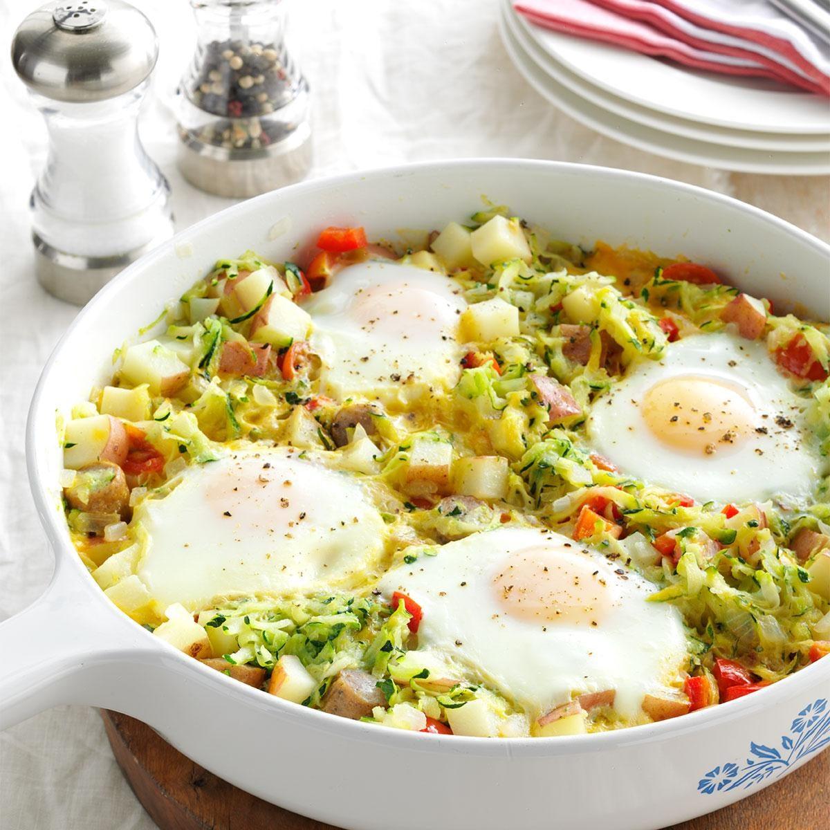 Zucchini Egg Skillet Recipe | Taste of Home