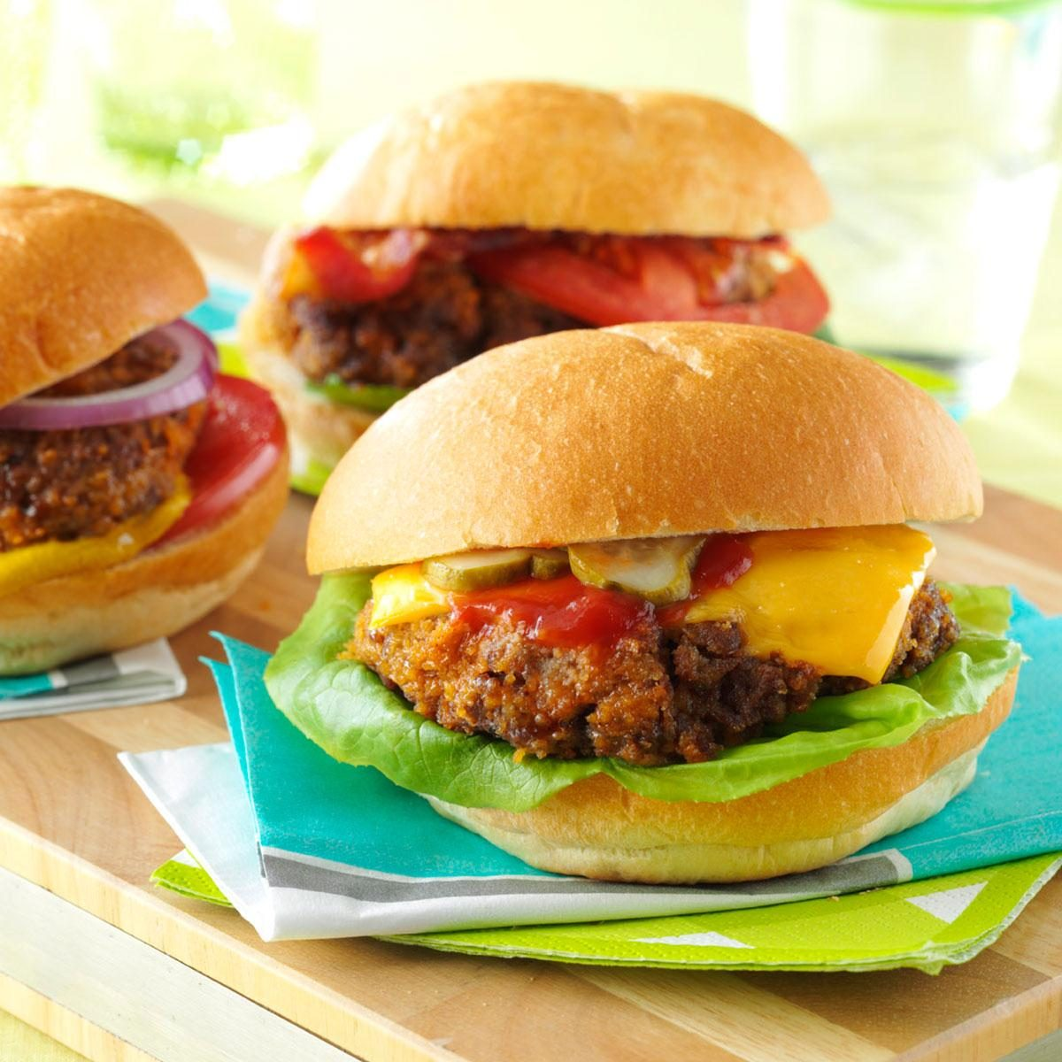 the best burgers for your backyard cookout taste of home