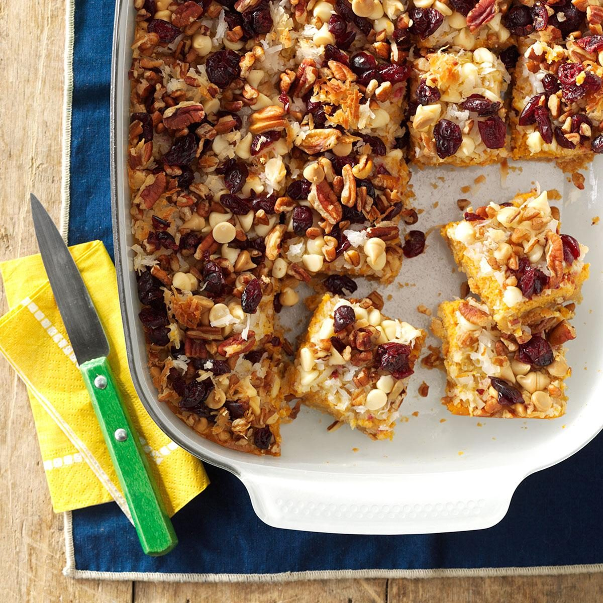 26 christmas bar recipes for sweet celebrations taste of home pumpkin delight magic bars forumfinder Gallery