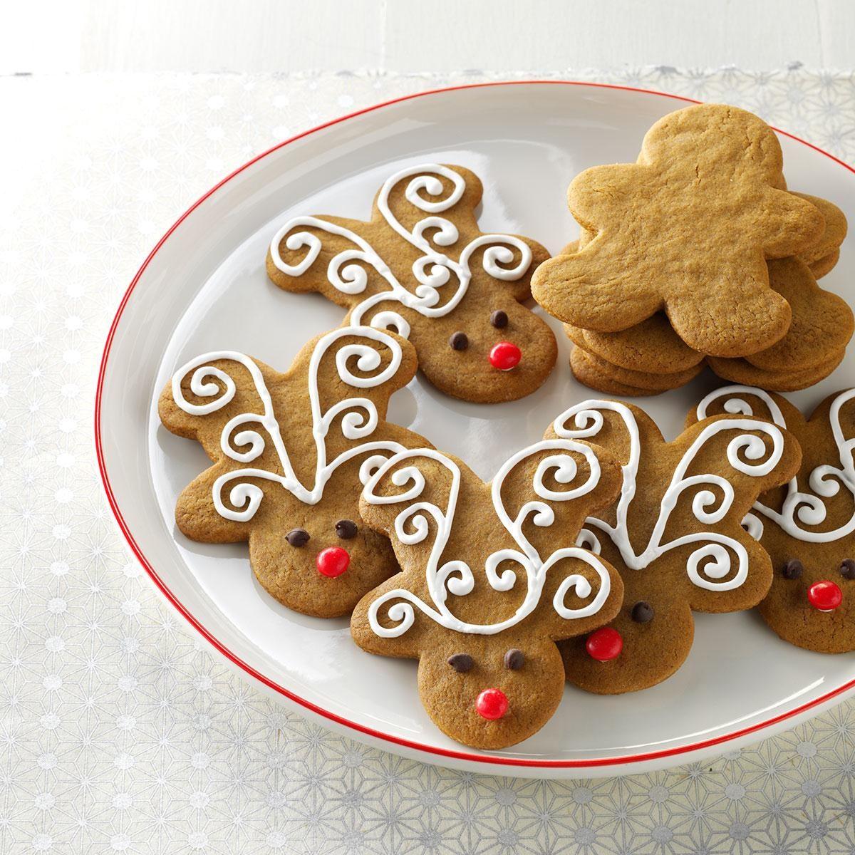 Brunch Quotes Jolly Ginger Reindeer Cookies Recipe Taste Of Home