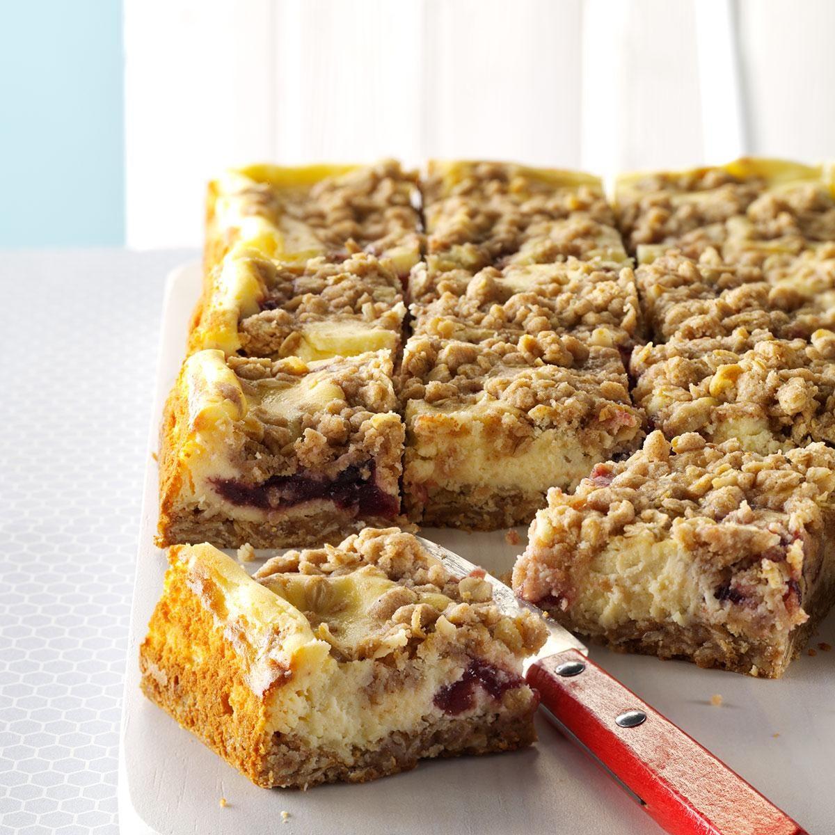 Cranberry Eggnog Cheesecake Bars Recipe | Taste of Home