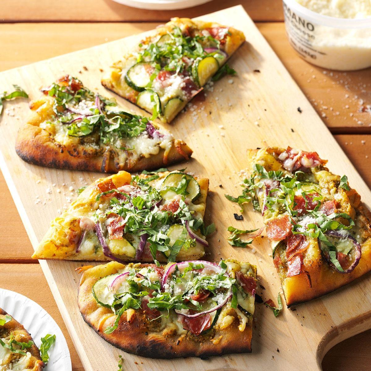 Pizza zucchini pesto