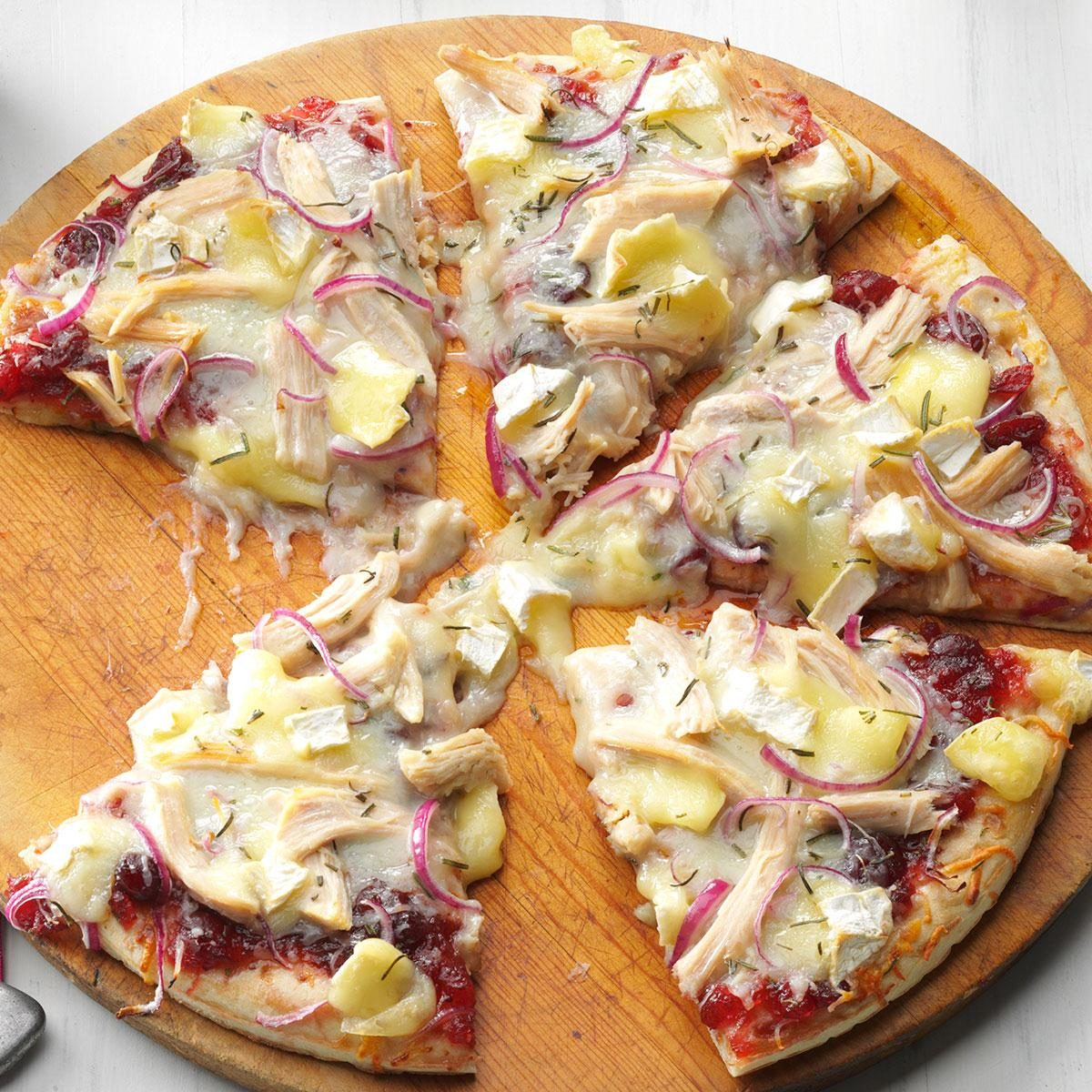 Cranberry, Brie & Turkey Pizza Recipe | Taste of Home