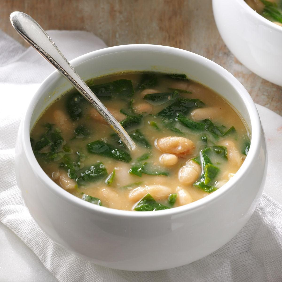 Spinach & White Bean Soup Recipe | Taste of Home