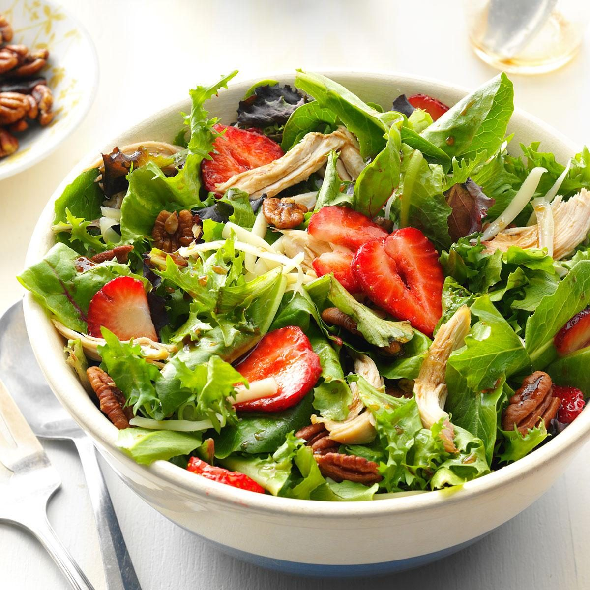 Strawberry-Chicken Salad With Buttered Pecans Recipe