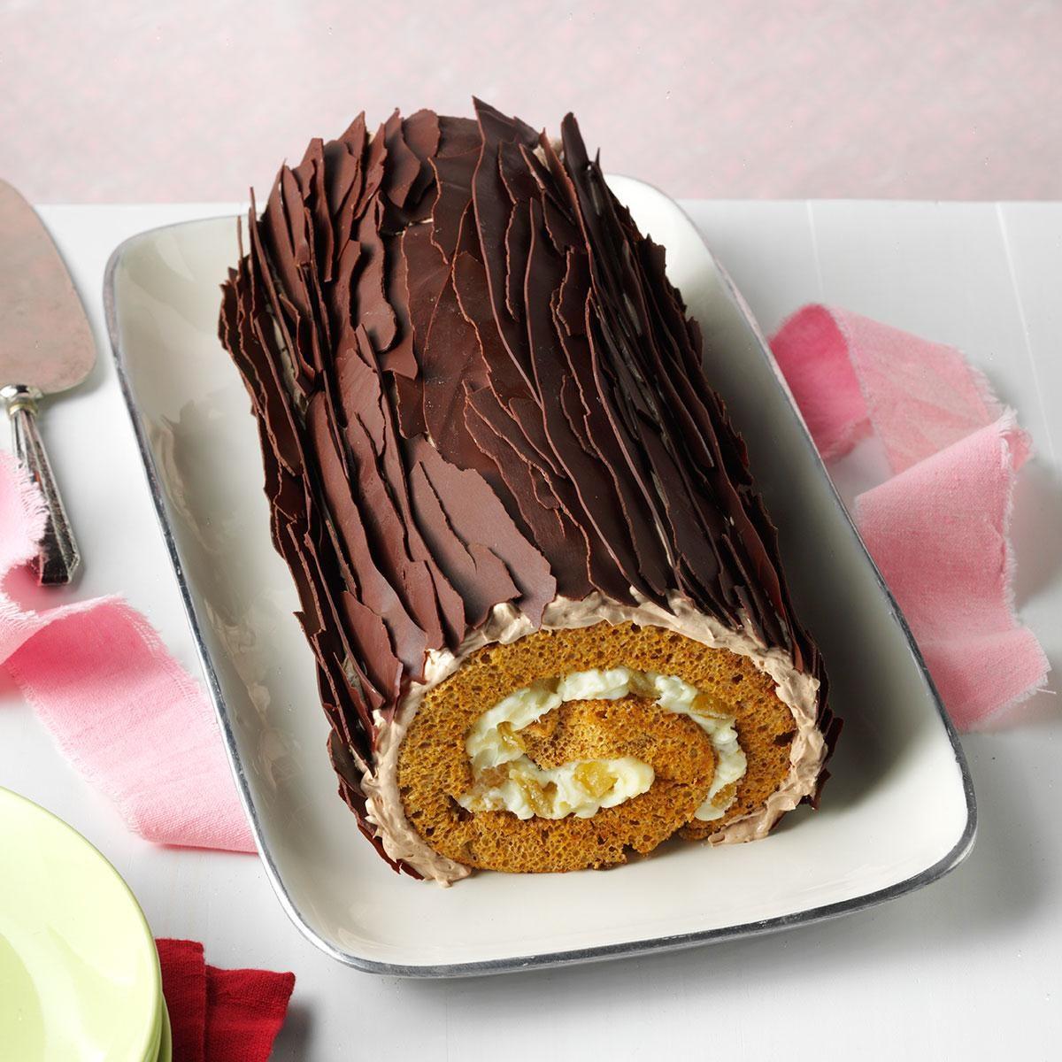Chocolate Gingerbread Yule Log Recipe Taste Of Home