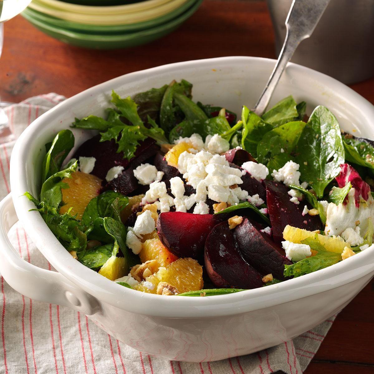 Roasted Beet Salad with Orange Vinaigrette Recipe | Taste ...