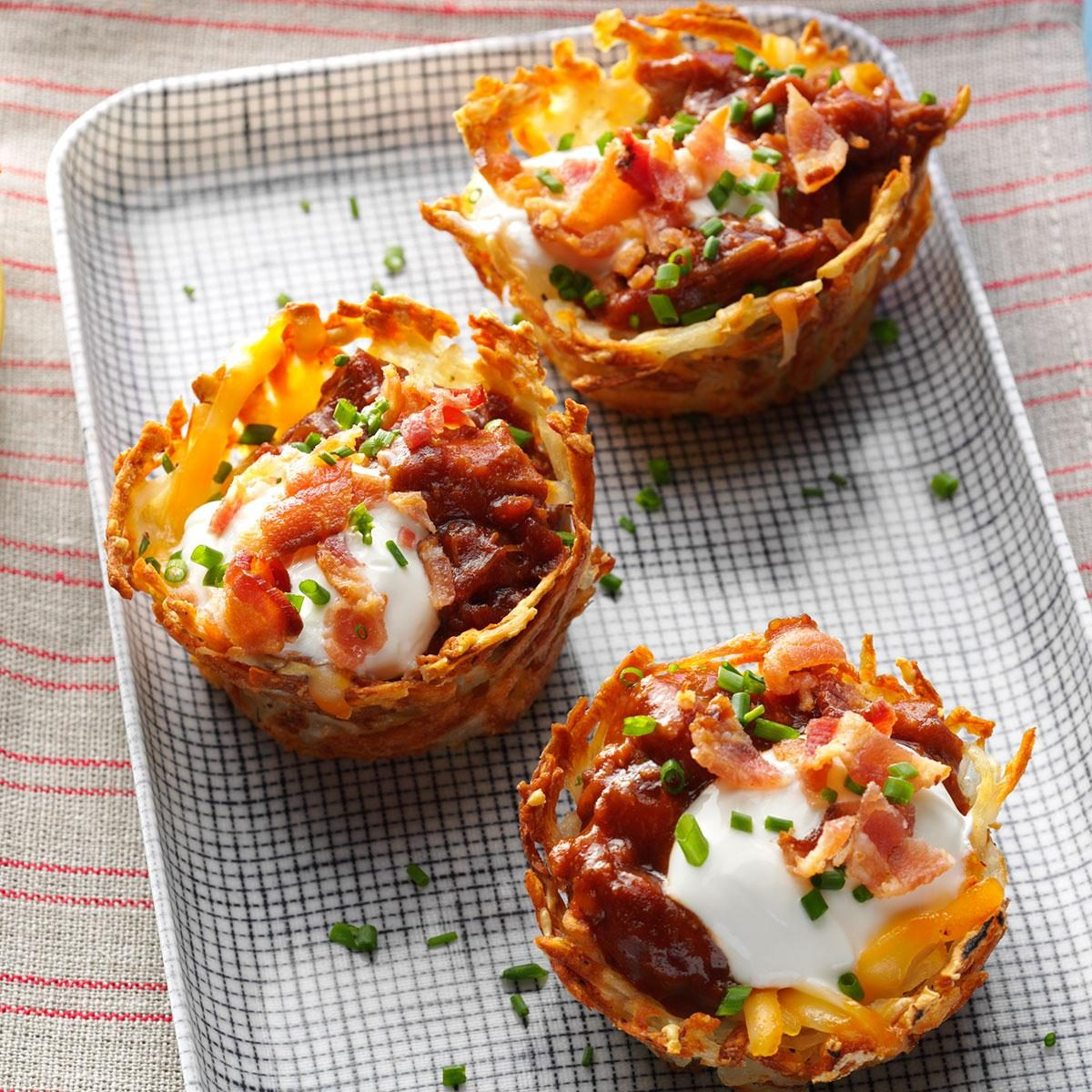 Loaded Pulled Pork Cups Recipe Taste Of Home
