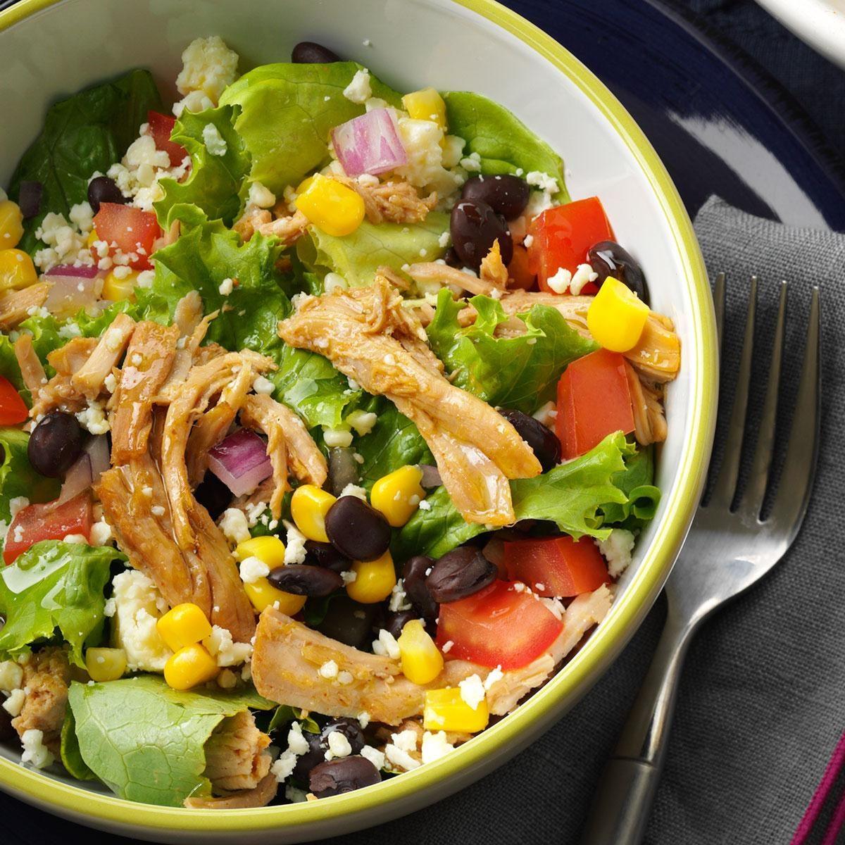 Southwest shredded pork salad recipe taste of home Sw meals