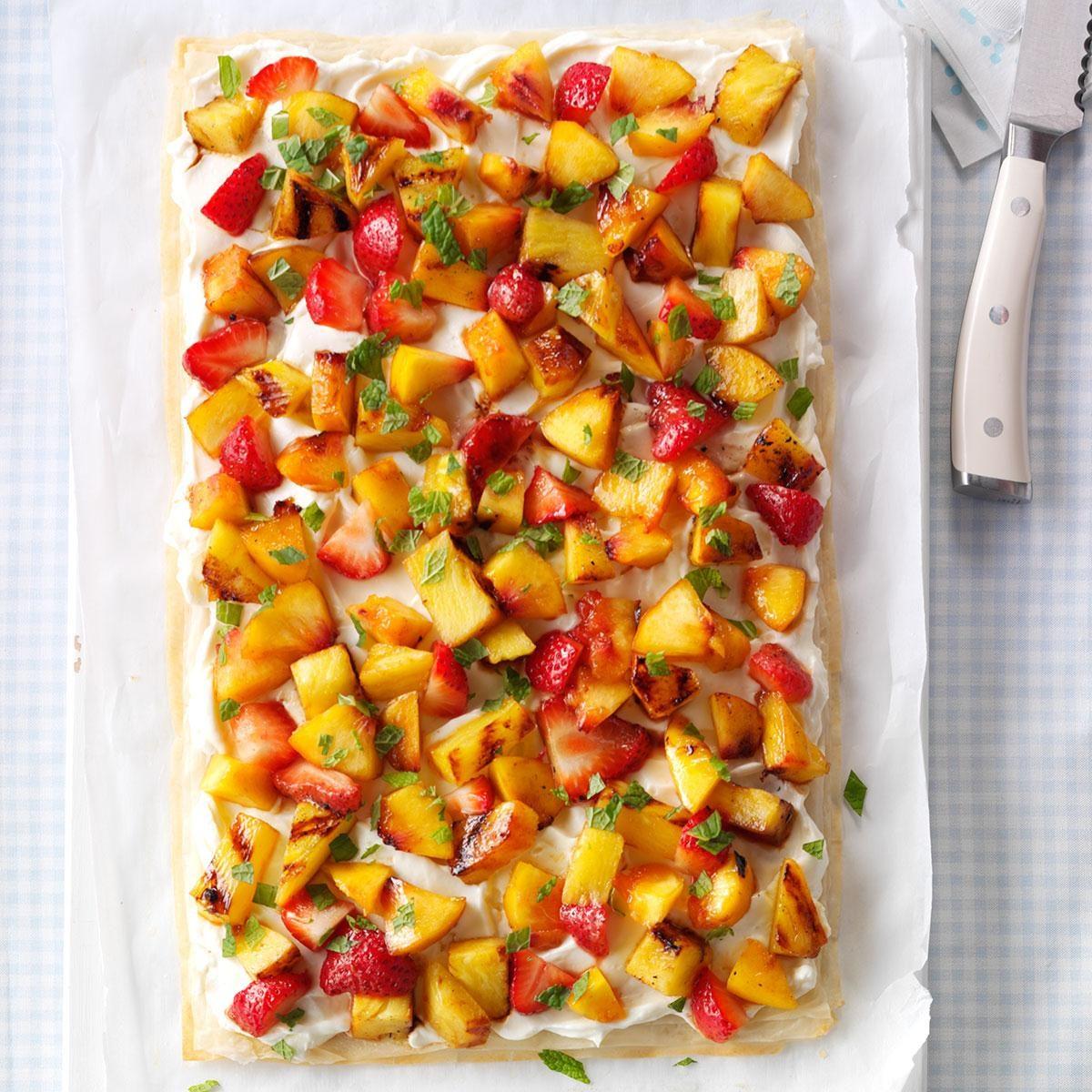 Grilled Fruit Phyllo Tart Recipe | Taste of Home