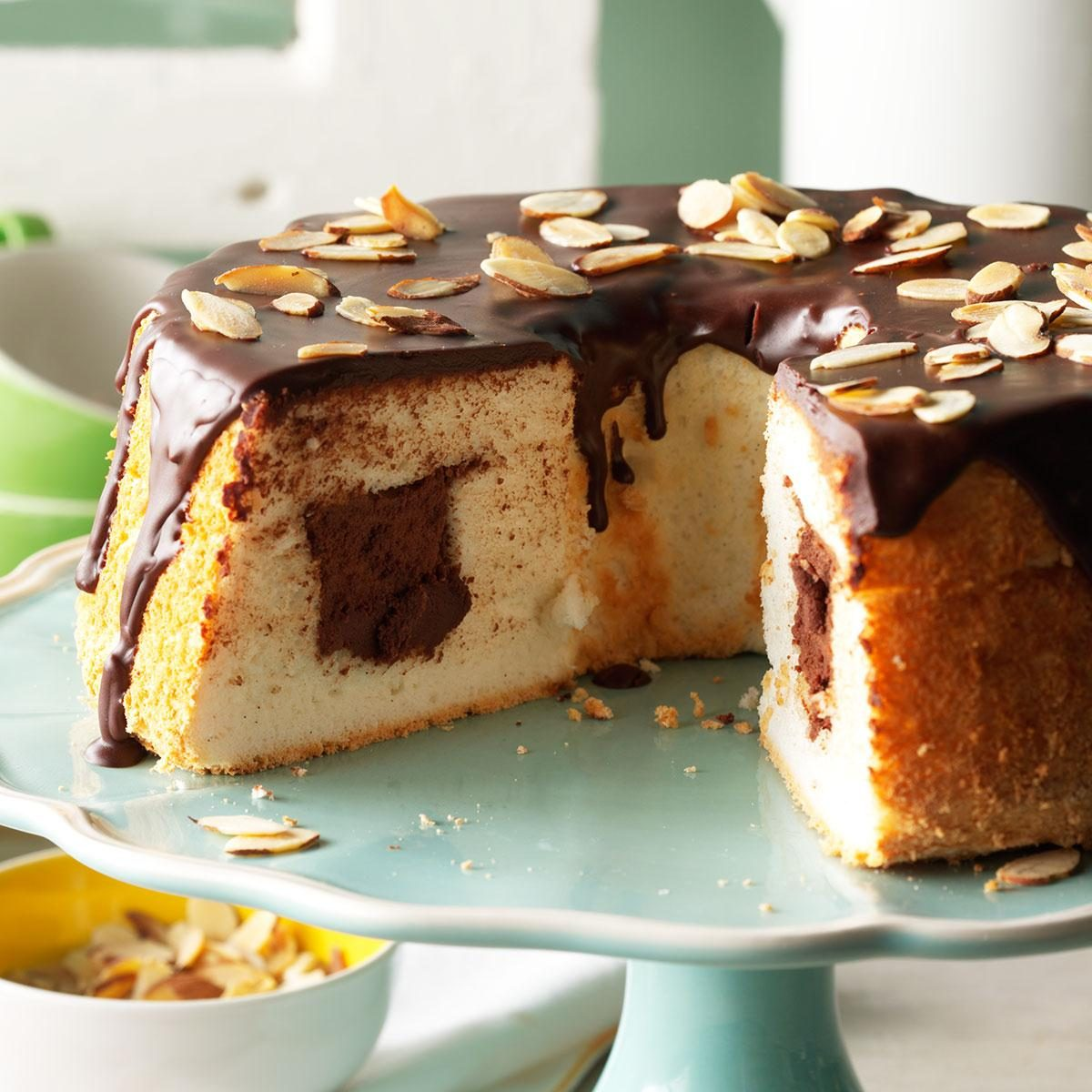 Chocolate Filled Angel Food Cake Recipe Taste Of Home