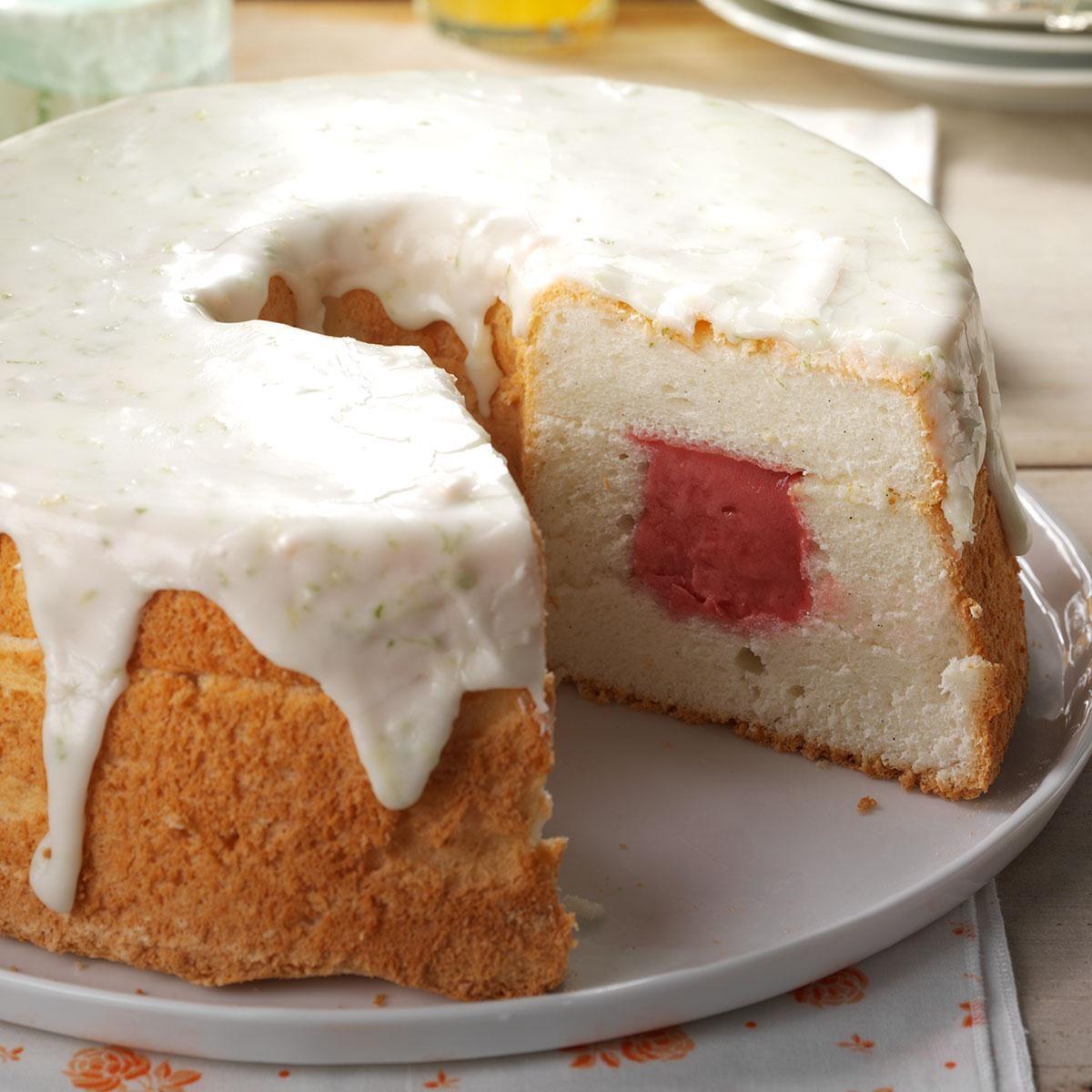Sherbet Angel Food Cake Recipe