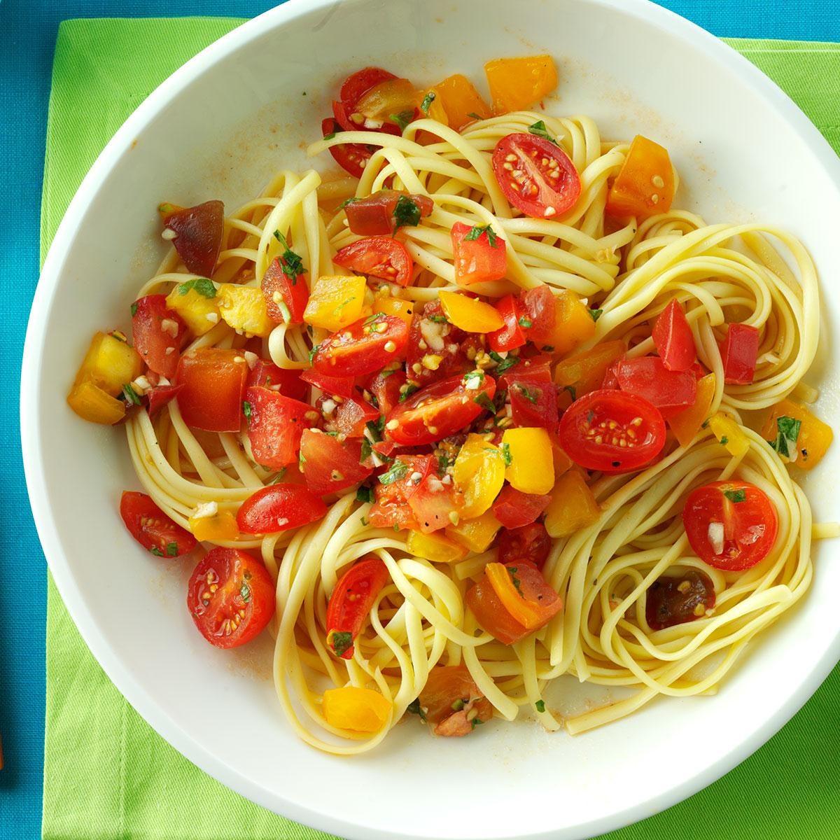 No-Cook Fresh Tomato Sauce Recipe | Taste of Home