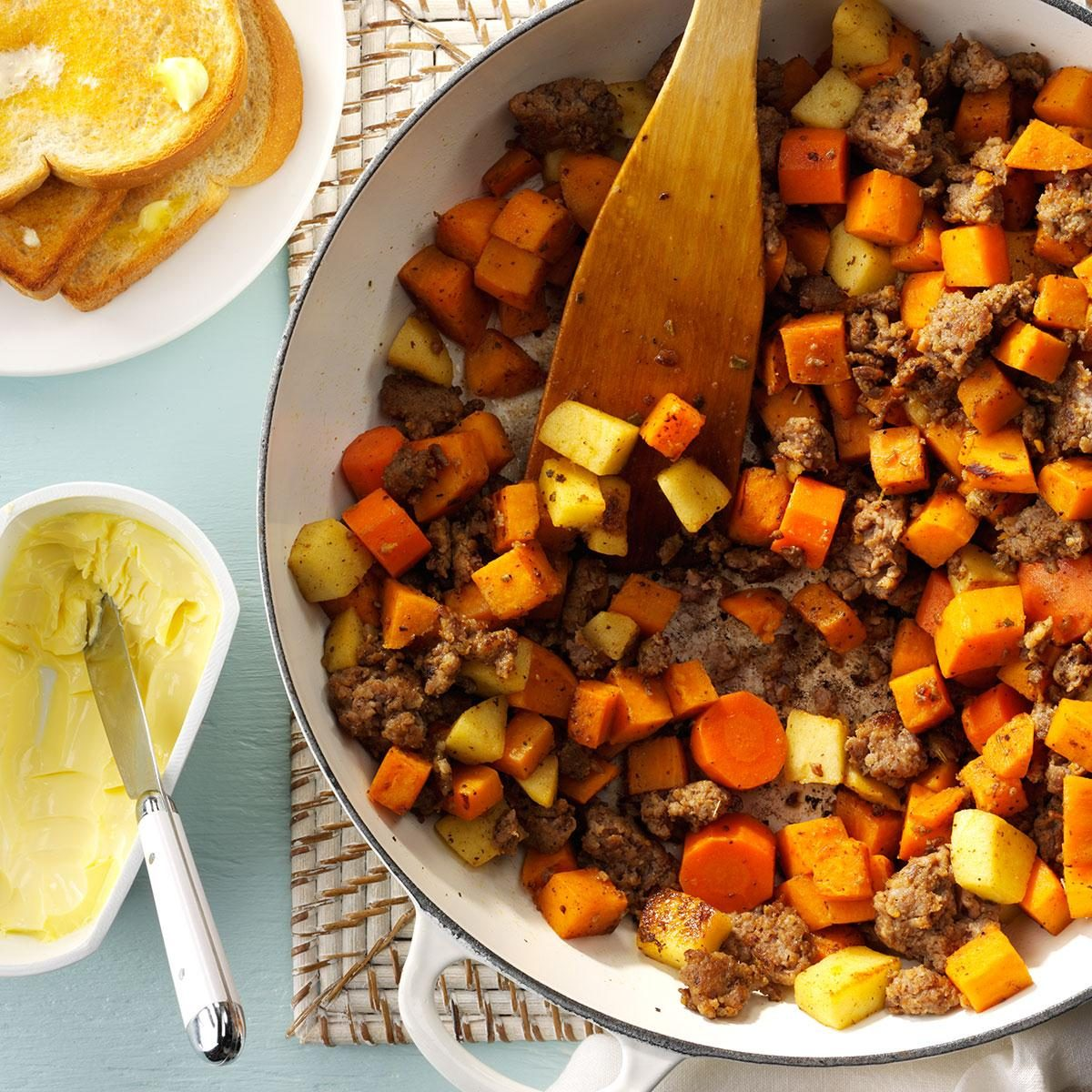 Hearty Sausage & Sweet Potatoes Recipe