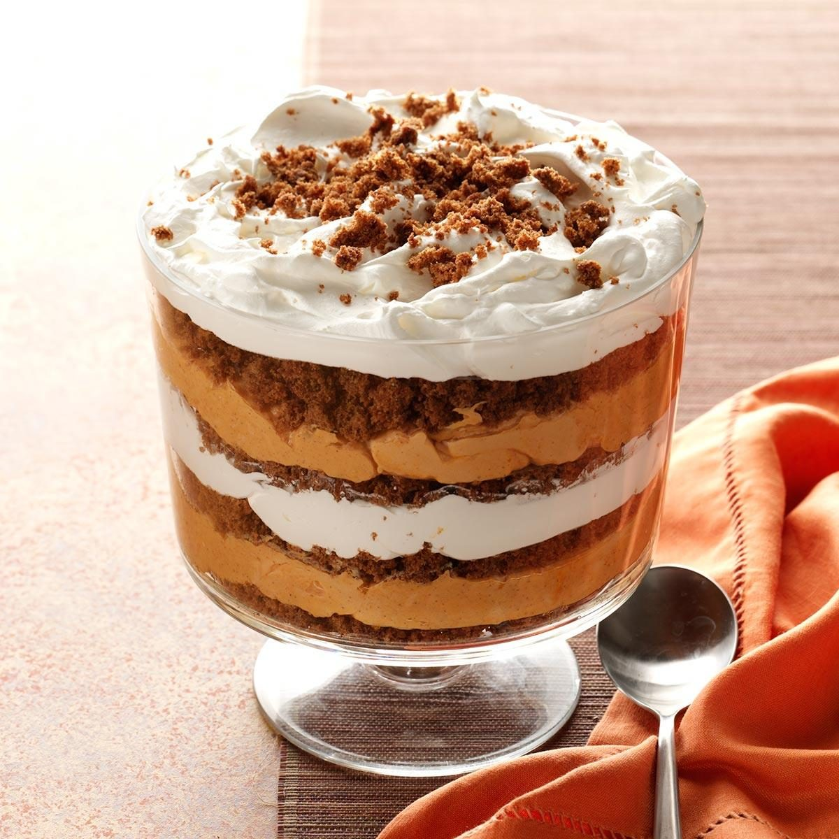 Pumpkin-Butterscotch Gingerbread Trifle Recipe | Taste of Home