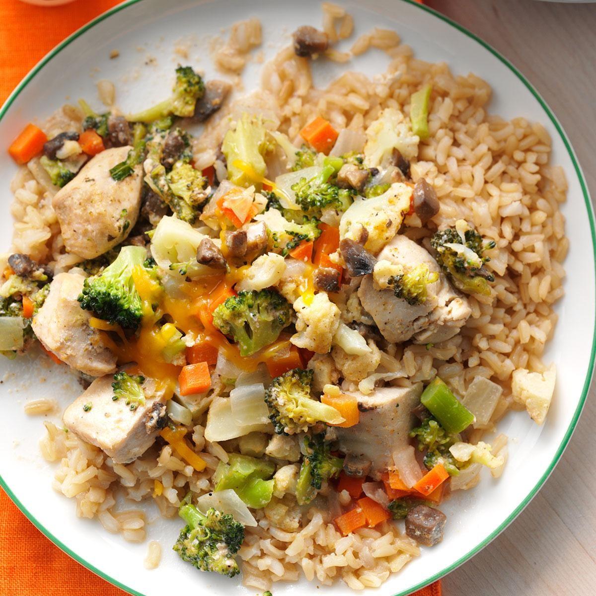 Broccoli-Cauliflower Chicken Casserole Recipe  Taste Of Home-6439