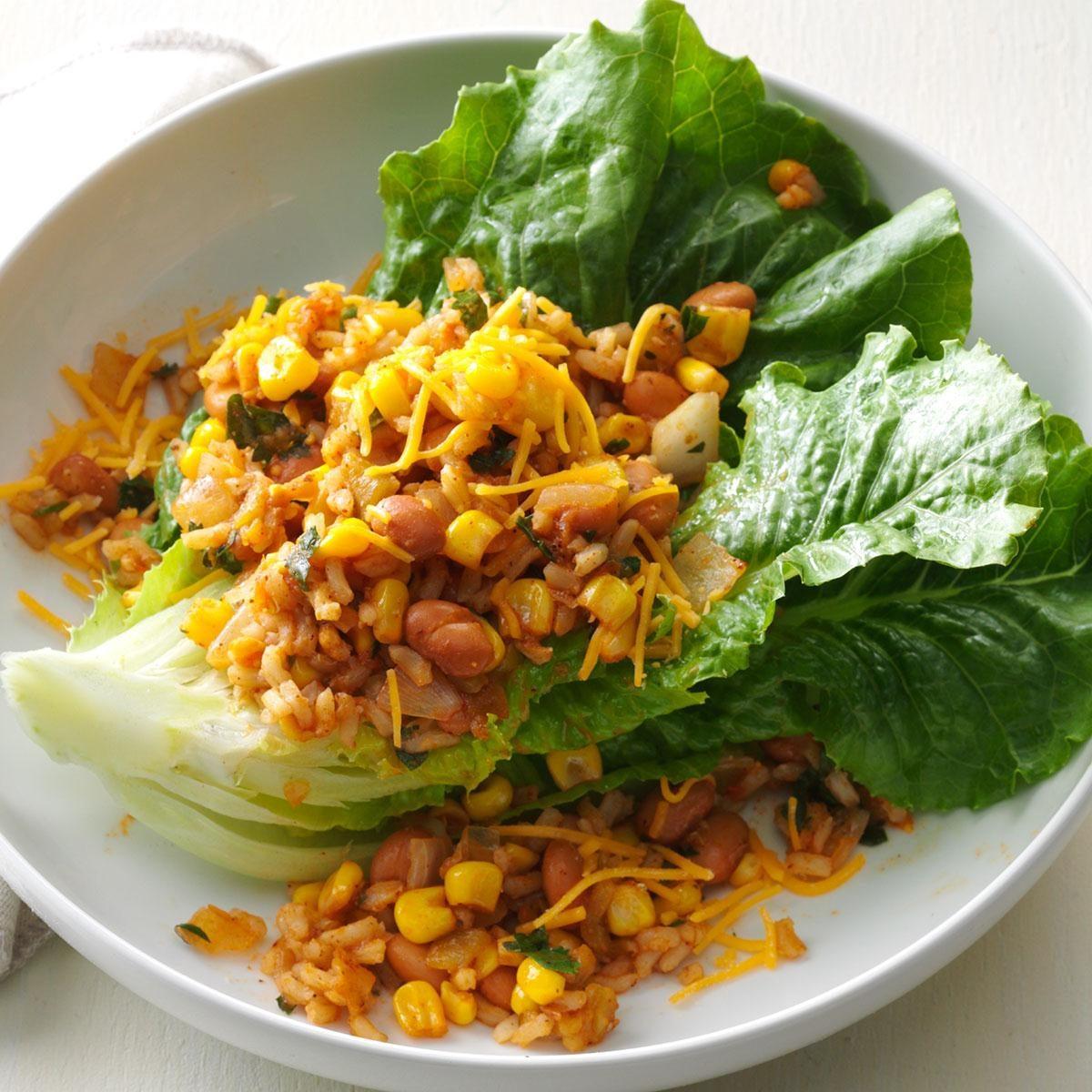 Warm Rice & Pintos Salad Recipe   Taste of Home