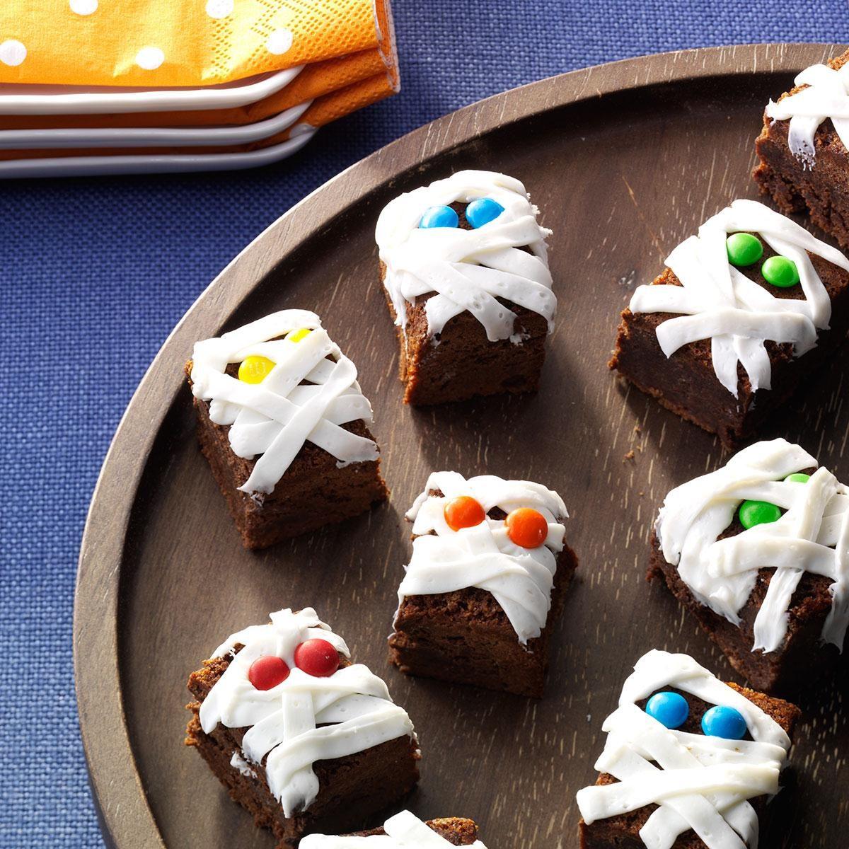 mummy brownies recipe taste of home - Halloween Brownie Recipe
