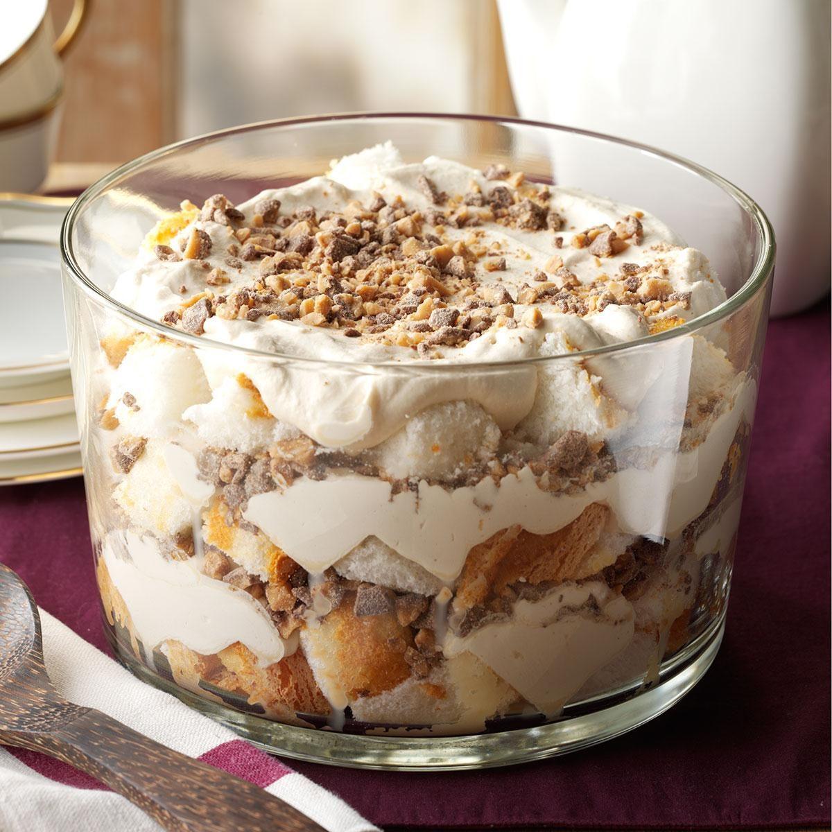 Toffee Brownie Trifle Recipe: Caramel Fluff & Toffee Trifle Recipe