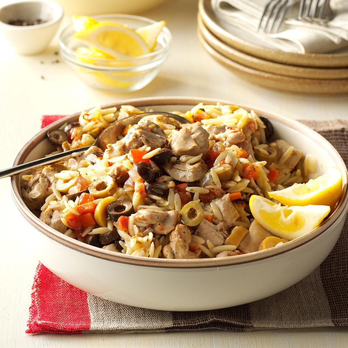 Mediterranean Style Chicken Recipe: Mediterranean Chicken Orzo Recipe