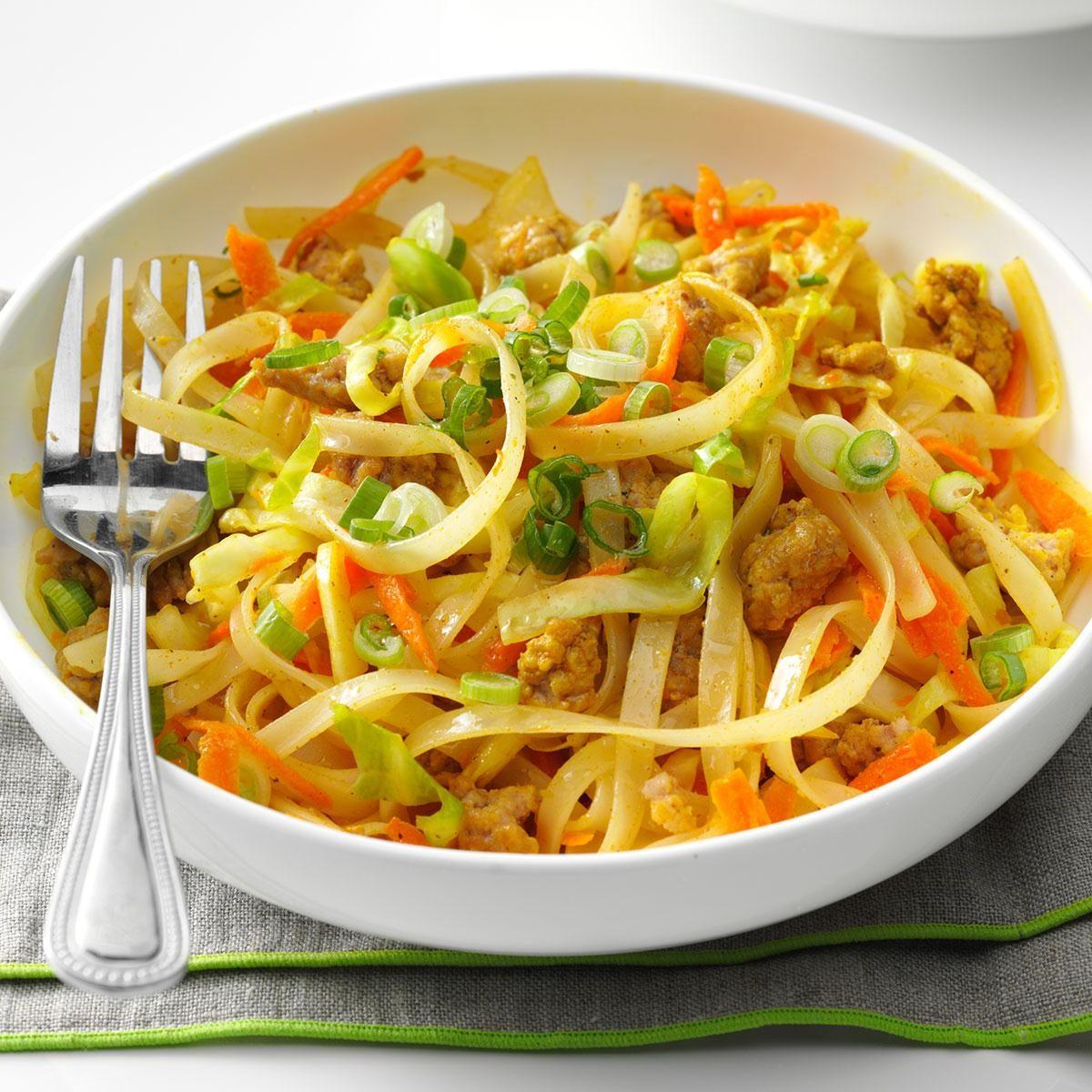 Egg Roll Noodle Bowl Recipe Taste Of Home
