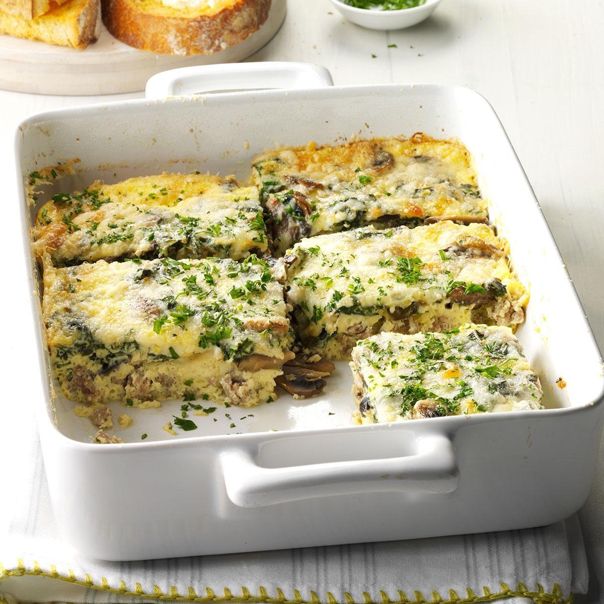 Do Ahead Egg And Sausage Bake: Sausage-Vegetable Egg Bake Recipe